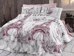 Евро макси набор постельного белья 200*220 из Ранфорса Romantica Pudra First Choice™
