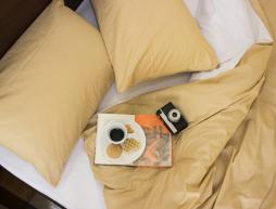 """Двуспальный набор однотонного постельного белья 180*220 из Бязи """"Gold"""" №15759AB Черешенка™"""