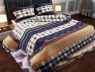 "Ткань для постельного белья Бязь ""Gold"" Lux ""Шотландка (синий)"" GL824"