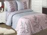 """Ткань для постельного белья Бязь """"Gold"""" Lux """"Абстрактный цветочный принт (розовый)"""" GL4167"""