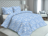 """Ткань для постельного белья Бязь """"Gold"""" Lux """"Звезды (мелкий, голубой)""""GL2060"""