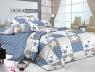 Двуспальный набор постельного белья 180*220 из Сатина №572AB Черешенка™