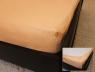 Простынь на резинке (180*200*25) персик