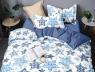 Двуспальный набор постельного белья 180*220 из Сатина №645AB Черешенка™