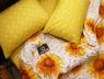 Двоспальний набір постільної білизни 180*220 із Сатину №809AB Черешенька™