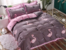 """Ткань для постельного белья Бязь """"Gold"""" Lux """"Розовый фламинго"""" GL1292 (A+B) - (50м+50м)"""