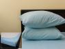 Комплект простыни на резинке с наволочками (160*200*25) светло-голубой