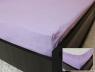 Простынь на резинке (180*200*25) светло-фиолетовая