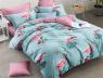 Семейный набор хлопкового постельного белья из Ранфорса №183180AB Черешенка™