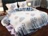 "Ткань для постельного белья Бязь ""Gold"" Lux ""Геометрический (синий)"" GL833."
