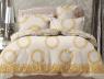 Двуспальный набор постельного белья 180*220 из Сатина №184AB Черешенка™