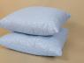 Подушка микрофибра/холлофайбер 70*70 синяя (на замке)