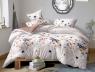 Двуспальный набор постельного белья 180*220 из Сатина №1782AB Черешенка™