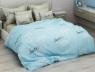 """Семейный набор хлопкового постельного белья из Бязи """"Gold"""" с простынью на резинке №144155AB Черешенка™"""