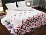 """Ткань для постельного белья Бязь """"Gold"""" Lux """"Геометрический принт (красный, черный)""""  GL832"""