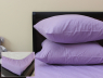 Комплект простирадла на резинці з наволочками (160*200*25) світло-фіолетовий