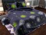 """Тканина для постільної білизни Бязь """"Gold"""" Lux """"Стилізовані кульбаби"""" GL975A"""