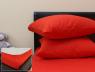 Комплект простирадла на резинці з наволочками (160*200*25) червоний