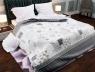 """Ткань для постельного белья Бязь """"Gold"""" Lux """"Сердце (серый)""""  GL1053A"""