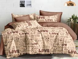 Евро макси набор постельного белья 200*220 из Сатина №1008AB Черешенка™