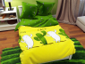 """Двуспальный набор постельного белья 180*220 из Бязи """"Gold"""" с простынью на резинке №14529AB Черешенка™"""