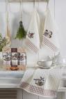 Набір кухонних рушників Nilteks Gualite Ekmek 35*50 (3 шт)