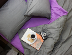 Бязевое постельное белье двуспальное однотонное