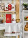 Набір кухонних рушників Nilteks Mimoza Cilekli 50*70 (3 шт)