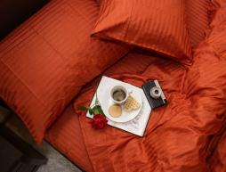 Двоспальний набір постільної білизни 180*220 з Страйп Сатину №541340 KRISPOL™