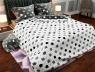 """Семейный набор хлопкового постельного белья из Бязи """"Gold"""" с простынью на резинке №147440AB Черешенка™"""