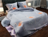 "Ткань для постельного белья Бязь ""Gold"" Lux""Яркие фламинго (серый)"" GL653"