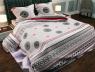 """Ткань для постельного белья Бязь """"Gold"""" Lux """"Геометрический принт (серый)"""" GL737"""