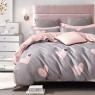 """Тканина для постільної білизни Бязь """"Gold"""" Lux """"Рожеві серця"""" GL1286 (A + B) - (50м + 50м)"""