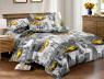 Двуспальный набор постельного белья 180*220 из Сатина №493AB Черешенка™