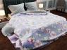 """Ткань для постельного белья Бязь """"Gold"""" Lux """"Яблучное цветение (голубой)"""" GL1294 (A+B) - (50м+50м)"""