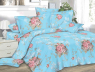 Ткань для постельного белья Сатин SFlowerBlue (60м)