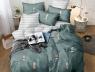 Двуспальный набор постельного белья 180*220 из Сатина №3406AB Черешенка™