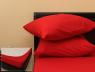 Комплект простыни на резинке с наволочками (180*200*25) ярко-красный