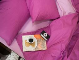 """Полуторный набор однотонного постельного белья 150*220 из Бязи """"Gold"""" №15758AB Черешенка™"""