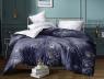 """Ткань для постельного белья Бязь """"Gold"""" Lux """"Абстрактный растительный принт (фиолетовый)"""" GL4146 (A+B) - (50м+50м)"""