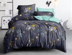 Полуторный набор постельного белья 150*220 из Сатина №1011AB Черешенка™