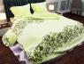 """Ткань для постельного белья Бязь """"Gold"""" Lux  """"Завитки (желтый)"""" GL1043"""