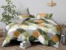Двуспальный набор постельного белья 180*220 из Сатина №1755AB Черешенка™