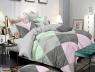 Двоспальний набір постільної білизни 180*220 із Сатину №591AB Черешенька™