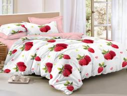 Двуспальный набор постельного белья 180*220 из Сатина №851AB Черешенка™