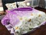 """Ткань для постельного белья Бязь """"Gold"""" Lux """"Цветочная поляна (фиолетовый)"""" GL160."""