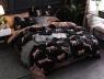 Полуторный набор постельного белья 150*220 из Сатина №1372AB Черешенка™