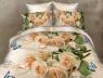 """Ткань для постельного белья Бязь """"Gold"""" Lux """"Белые розы"""" GL693"""