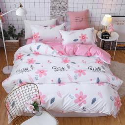 """Ткань для постельного белья Бязь """"Gold"""" Lux """"Цветочный принт (розовый, белый)"""" GL1206 (A+B) - (50м+50м)."""