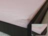 Простынь на резинке (160*200*25) розовая в полоску